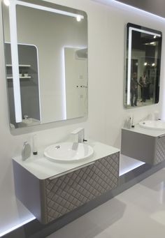 Noken is also presenting its new finishes for the bathroom furniture, Lounge Capitoné, at the ISH trade fair.