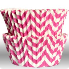 Chevron Pink Cupcake Liners - $3.75 for 50 count. OH I AM IN LOVE!!!