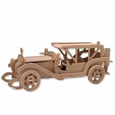 3-D Wooden Puzzle - Classic Car Model -Affordable Gift for your Little One! Item #DCHI-WPZ-P017