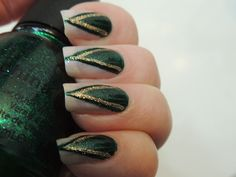 Oz the Great and Powerful - Evanoras Nails. These seem to be popping up everywhere and I think I like them