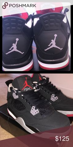 Air Jordan IV Bred 2012 (Black Cement) Size 8 Jordan 4s Black Cement Size ec3a6b08c