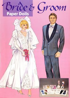 Bride and Groom. Large boxed set. 1991