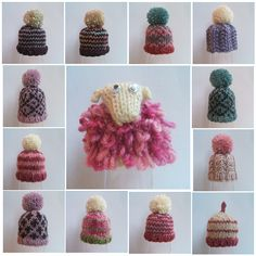 sheepie mosaic by thomasina knits, via Flickr and how to make pom poms