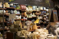 cheeses at grocery store