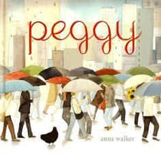 This is the story of a brave chicken on a big adventure. Peggy lives in a small house in a quiet street. One blustery day a big gust of wind sweeps down and scoops up leaves, twigs and . . . Peggy! The wind blows Peggy into the city, where she discovers strange new things, but how will she find her way back home?