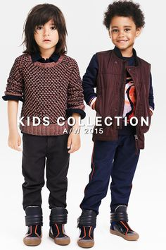 Our AW15 Kids Collection is bursting with color, like this season's trending burgundy. Style it for boys with rich black & blue, or check out the entire range for a full palette of inspiration.