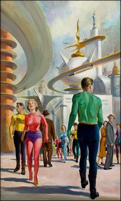 """Bob Lavin cover art for the novel """"Tomorrow and Tomorrow"""" by Hunt Collins (1956)"""