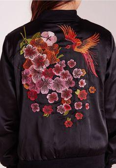 oriental embrd satin bomber jacket: missguidedus.com