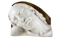 Arrigo Minerbi (1881 - 1960), Volto di Cristo, particolare in marmo del monumento della cappella funebre della famiglia Marzotto a Valdagno.