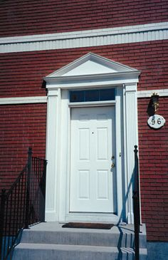 exterior - exterior door with pediment and pilasters & Great link to architectural building/ house styles and terms: Door ... pezcame.com