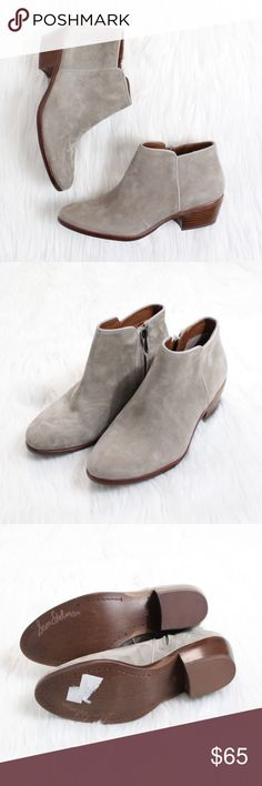 """SAM EDELMAN Petty Chelsea Boot in Putty Suede Brand new without box!  Size: 6.5 Color: Putty Suede  A minimalist profile and low, stacked heel underscore the street-chic attitude of a versatile Chelsea boot that's sure to span the seasons.  1 3/4"""" heel. 3 1/4"""" boot shaft. Side zip closure. Leather upper/synthetic lining and sole. By Sam Edelman; imported. Sam Edelman Shoes Ankle Boots & Booties"""