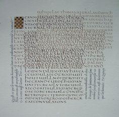 Texte de Thomas De Quinceygezien bij Anachropsy Unciaal / humanistisch cursief
