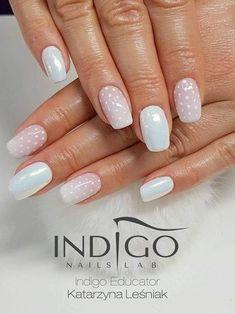 Mermaid effect, Gelpolish Natural, pasta NailArt by Indigo Educator Katarzyna Leśniak #nails #nail #ombre #polkadots #pastel #indigonails #indigo #pastelnails #pink #babyblue