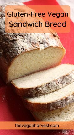 Sandwich Vegan, Sandwich Bread Recipes, Easy Bread Recipes, Dairy Free Recipes, Easy Gluten Free Bread Recipe, Vegan Gluten Free Bread, Gluten Free French Bread, Vegan Sandwiches, Keto Recipes