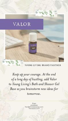 My Essential Oil News Valor Young Living, Young Living Bath, Young Living Oils, Young Living Essential Oils, Cinnamon Bark Essential Oil, Clove Essential Oil, Tea Tree Essential Oil, Pure Essential Oils, Young Living Distributor