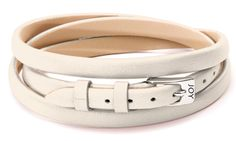 Joy de la Luz | Leather buckle bracelet off-white