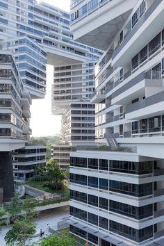 The Interlace  Architekten: OMA  Gegenentwurf zur gängigen Bauweise von Hochhäusern