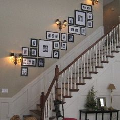 BLACK ( 1 inch )Perfect Picturewall Gallery frame set w hanging templates Stairway Decorating black Frame Gallery Hanging inch Perfect Picturewall Set Templates Stairway Picture Wall, Stairway Photos, Gallery Wall Staircase, Stairway Photo Gallery, Ikea Picture Ledge, Multi Picture Photo Frames, Decorating Stairway Walls, Staircase Wall Decor, Staircase Design