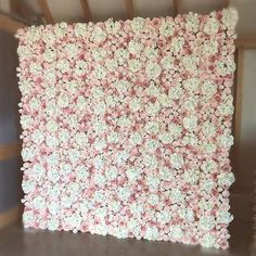 Our beautiful Blush Flower Wall stands at 8ft tall by 8ft wide! Featuring Hydrangeas, Peonies and David Austin Roses.