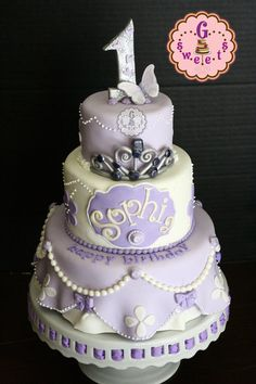 Sophia The First Cake - by GSweetsBySarah @ CakesDecor.com - cake decorating website
