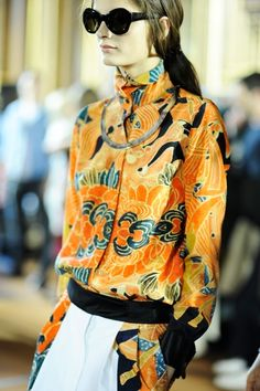 Dries Van Noten Fall 2012 - Photo: Pamela Berkovic. I like the shirt a lot - and the collar!!!!