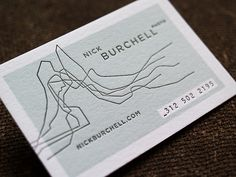 Design by Funnel: Eric Kass. Business card for Nick Burchell (photographer).