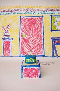 Sesame Street Smash Cake Session - Footsteps Photography, Child Photographer near RAF Mildenhall