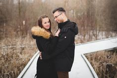 Winter engagment photos