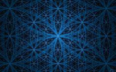 Blue flower of life background