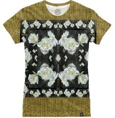 Cool roses in a gold landscape by Pepita Selles - Women's Classic Tee - $55.00