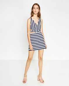 Image 1 of STRIPED JUMPSUIT DRESS from Zara