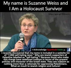 Meet Suzanne Weiss... http://rabble.ca/news/2010/04/holocaust-survivor-why-i-support-palestinian-rights