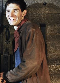 """Colin Morgan is made of sunshine"" - pinned for that comment. But also, look at that smile! Merlin Show, Merlin Fandom, Merlin Cast, Merlin And Arthur, King Arthur, Merlin Colin Morgan, Best Tv Series Ever, Doctor Who, Beautiful Men"