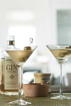 Dirty Martini with Stilton-stuffed Olives | Crush Magazine Recipe