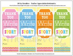 Teacher Appreciation  DIY Bookmarks by menalove on Etsy, $3.50