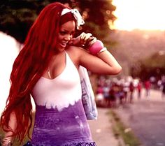 "My favorite Rihanna look in her video for ""Man Down"""