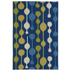 Found it at AllModern - Home and Porch Blue Indoor/Outdoor Area Rug
