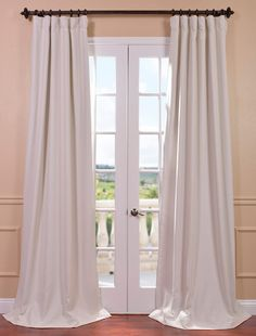 Cottage White Bellino Blackout Curtain - SKU: BOCH-PL4201 at https://halfpricedrapes.com