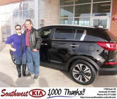#HappyAnniversary to Lauren Oakley on your 2013 #Kia #Sportage from Teresa Toombs at Southwest KIA Rockwall!