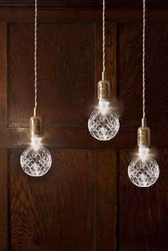 sparklers // Crystal Bulb and Pendant Lights