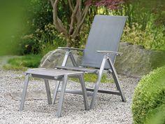 Stern Gartensessel/Klappsessel Porto Aluminium graphit Textil silbergrau Aluminiumarmlehnen kaufen im borono Online Shop
