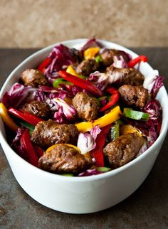 LOW CARB RECIPE IMAGES | Low Carb Recipes / Sausage and Peppers Salad