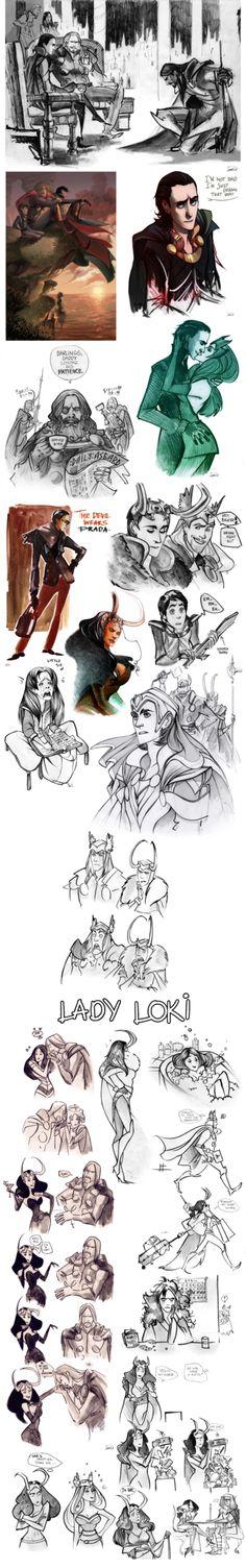 Thor sketchdump II by Phobs on DeviantArt