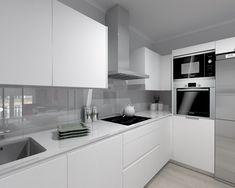 Wonderful Minimalist Interior Concrete Ideas - 10 Seductive Cool Ideas: Vintage Minimalist Decor Etsy minimalist home decoration etsy. Kitchen Room Design, Modern Kitchen Design, Kitchen Layout, New Kitchen, Kitchen Interior, Kitchen Decor, Minimalist Kitchen, Minimalist Interior, Minimalist Bedroom