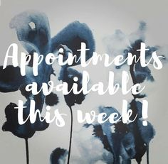 Appointments available this week image