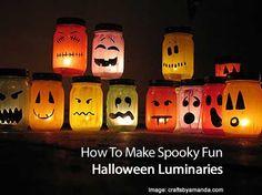How To Make Spooky Fun Halloween Luminaries