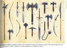 Weapon Illustrations from the 4th Edition Player's Handbook