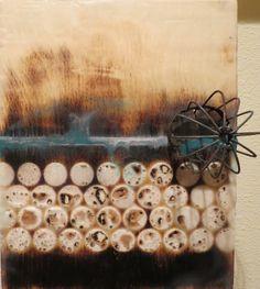 Fermentation Original Encaustic Artwork by kparsley on Etsy, $65.00