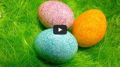 Velikonoční vajíčka zdobená barvou v rýži | Bystré děti