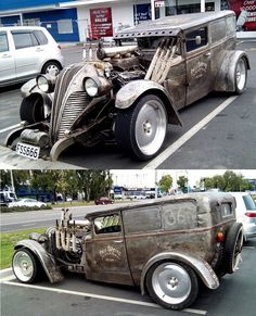 Another example of the junk yard look with the multiple design. As you can see here the welds don't look smoothed down or finished and it looks like someone took a sludge hammer to the body to try and tub it out.